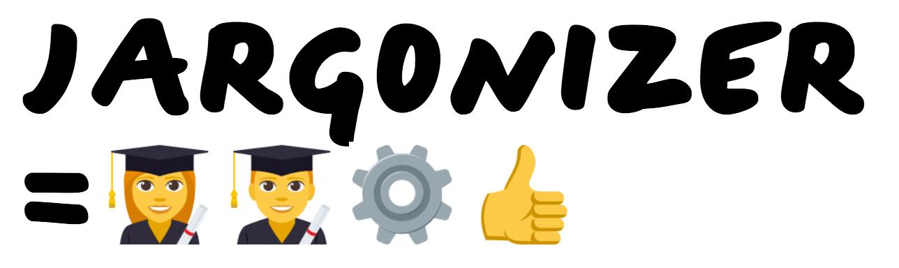 The term Jargonizer translated using four emojis